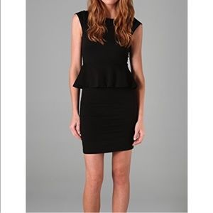 Alice + Olivia Peplum Black Mini Dress